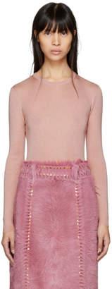 Prada Pink Cashmere Crewneck Pullover