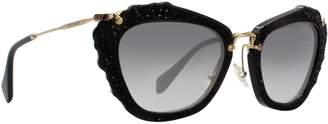 Miu Miu Women's Gradient MU04QS-1AB0A7-55 Butterfly Sunglasses