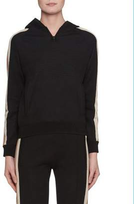 Etoile Isabel Marant Dawson Striped Sporty Knit Hoodie
