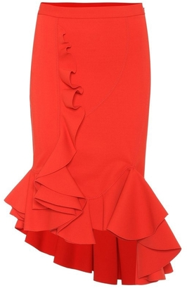 Asymmetric Draped Panel Skirt