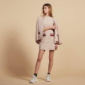 Sandro Straight-Cut Short Tweed Dress
