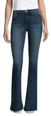 Stella McCartney Exclusive High-Rise Medium-Wash Flare Jeans