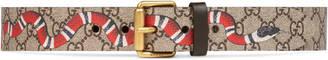 Kingsnake print GG Supreme belt $370 thestylecure.com