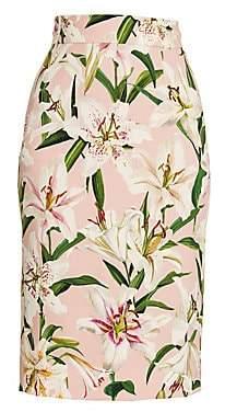 Dolce & Gabbana Women's Lily Printed Pencil Skirt