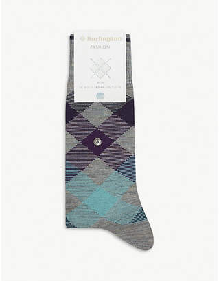 Burlington Newcastle tartan socks