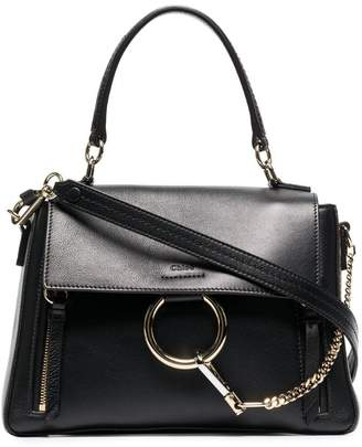 Chloé Black leather faye day bag