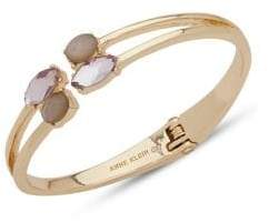 Anne Klein Mother-of-Pearl and Crystal Cuff Bracelet
