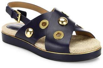 Michael Kors Hallie Studded Leather Crisscross Slingback Sandal