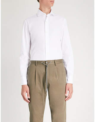 Eleventy Slim-fit cotton-poplin shirt