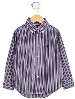 Ralph Lauren Boys' Striped Poplin Shirt