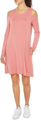 Alyx Long Sleeve Cold Shoulder Shift Dress