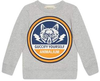 Gucci Children's sweatshirt with wolf print