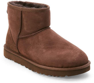 UGG Chocolate Classic Real Fur Mini Boots