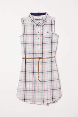 H&M Cotton Shirt Dress - Pink
