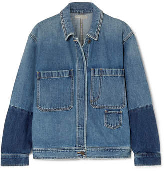 Vince Two-tone Denim Jacket - Indigo
