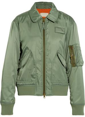 Maison Margiela - Shell Bomber Jacket - Army green $1,995 thestylecure.com