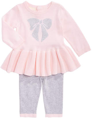 First Impressions Baby Girls Cotton Bow Sweater & Tights Set