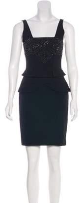 Nicole Miller Embellished Mini Dress