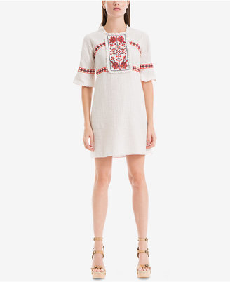 Max Studio London Juliette Cotton Embroidered Shift Dress $148 thestylecure.com