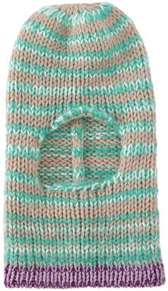 Calvin Klein Striped Wool Knit Balaclava