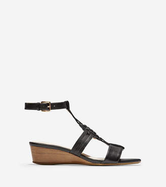 Cole Haan Findra Woven Slide Wedge Sandal