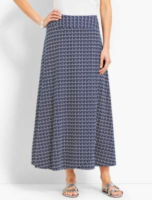 Talbots Casual Jersey Maxi Wrap Skirt - Faded Geo