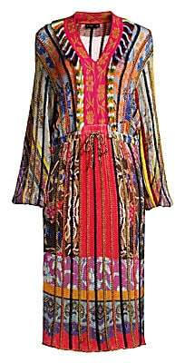 Etro Women's Multi-Knit V-Neck Dress