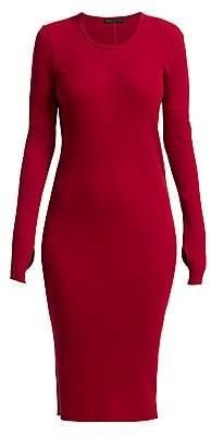 Helmut Lang Women's Cotton Rib-Knit Dress