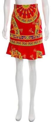 Dolce & Gabbana Printed Knee-Length Skirt w/ Tags