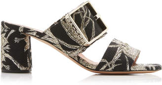 Rochas Buckle Brocade Slides