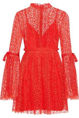 Alice McCall Back To You Grosgrain-Trimmed Guipure Lace Mini Dress