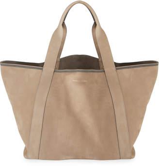 Brunello Cucinelli Nubuck Big Shopper Tote Bag
