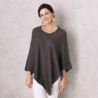 NEW Cashmere poncho in charcoal Women's by CAROLINA