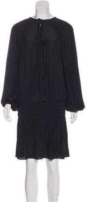 Ramy Brook Long Sleeve Pleated Dress