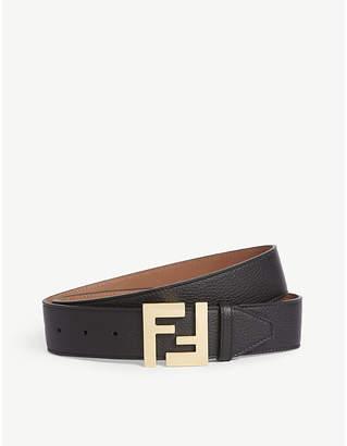 Fendi Logo buckle leather belt