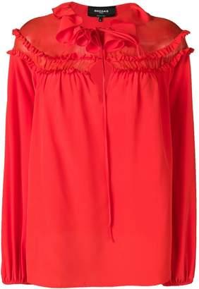 Rochas ruffled neck blouse