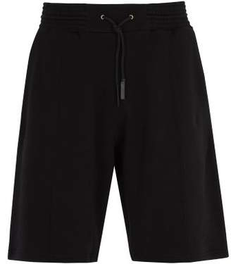 Givenchy - Logo Patch Cotton Shorts - Mens - Black