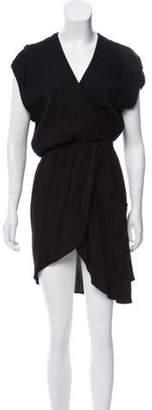 IRO V-Neck Crossover Dress Black V-Neck Crossover Dress