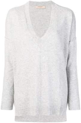 Twin-Set oversized long-sleeve sweater