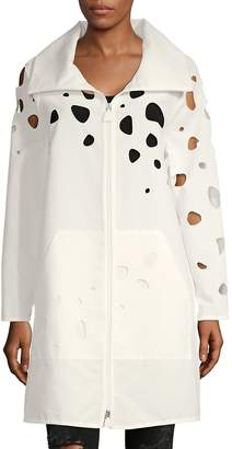 Akris Women's Cut-Out Cotton Longline Jacket