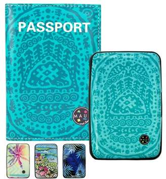 MAUI AND SONS RFID Protected Wallet and Passport Cover Set - Prevent Electronic Theft