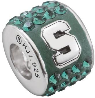 Swarovski Logoart LogoArt Michigan State Spartans Sterling Silver Crystal Logo Bead - Made with Crystals