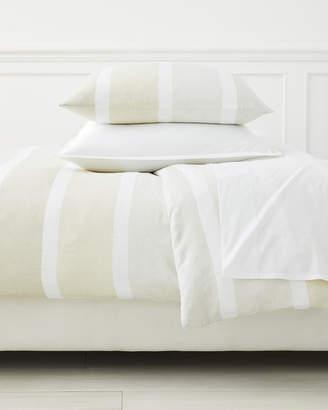 Serena & Lily Coastal Stripe Linen Duvet Cover
