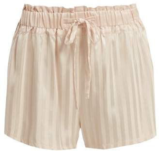 Morgan Lane - Rickie Silk Pyjama Shorts - Womens - Light Pink