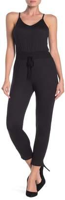 Velvet Torch Ribbed Waist Skinny Leg Jumpsuit