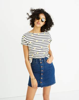 Madewell Stretch Denim Straight Mini Skirt in Arroyo Wash: Button-Front Edition