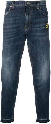 Dolce & Gabbana pig patch jeans