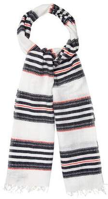Lemlem Striped Fringe-Trimmed Scarf w/ Tags