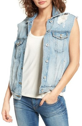 Women's Band Of Gypsies Studded Denim Vest $98 thestylecure.com