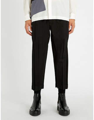 Issey Miyake Drawstring-waist relaxed-fit pleated trousers